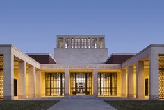 Architecture, Robert A.M. Stern Architects, building, construction, symmetrical building, columns, facade, courtyard