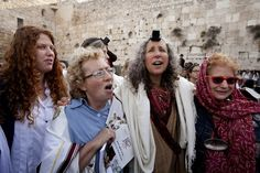 Israeli women pray at the Western Wall on April 11, 2013. Israeli police have detained five women for performing religious rituals that ultra-Orthodox Jews say are reserved for men. A police spokesman said about 120 woman arrived for their monthly prayer service Thursday and five were detained for wearing prayer shawls.