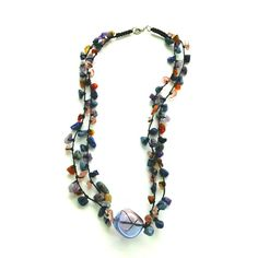 Bohemian Stone Necklace with Colorful Stones and by Franca&Nen   #francaandnen