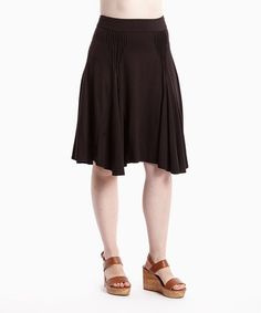 Love this Black Pleat Skirt on #zulily! #zulilyfinds