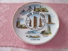 Assiette décorative New-York  vintage de la boutique Roselynn55 sur Etsy