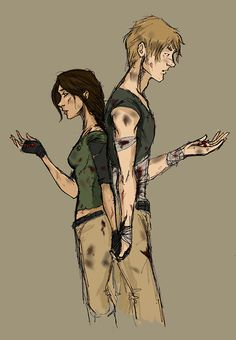 Peeta and Katniss...This is how I imagined it in my head, see how Peeta is NOT shorter than Katniss.
