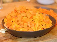 Supa crema de dovleac - Dovleac cuburi