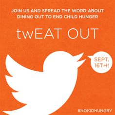 Go Orange To Raise Awareness for twEAT OUT #NoKidHungry
