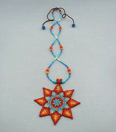 fd62b55a58aa Semillas cuentas joyería de arte Mandala collar nativo