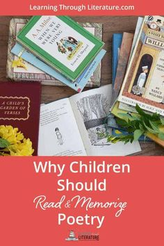 Learn Why Children Should Read & Memorize Poetry. We have a FREE Monthly Resource called Poem of the Month. It's a great tool to share poetry with your children and it includes fun tips and ideas. Poetry Books For Kids, Kids Poems, Best Children Books, Childrens Books, Art Children, Children's Fantasy Books, Free Poems, Classic Poems, Read Aloud Books