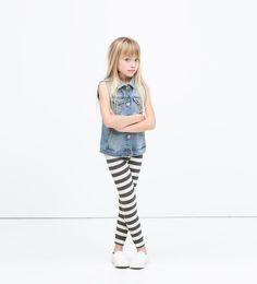 Image 1 de Legging en maille côtelée de Zara