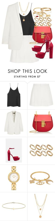 """""""Untitled #3502"""" by hellomissapple on Polyvore featuring Chloé, STELLA McCARTNEY, MANGO, ASOS, Fendi, Minor Obsessions, Forever 21, Cartier, women's clothing and women"""