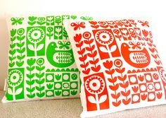 Screen Printed Scandinavian Cushions by Jane Foster