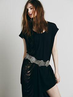 Silk Road Design Atlas Metal Belt at Free People Clothing Boutique