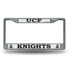 Central Florida Golden Knights Chrome License Plate Frame