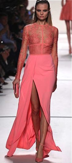 Elie Saab, 2014 Pink with amazing Lace top - a womans dream . Creme Fraiche DK