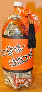 Graduation gift idea - fill with candy and cash