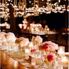 Fresh Flower Wedding Table Arrangement