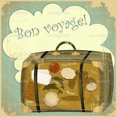 valise de voyage - Illustration