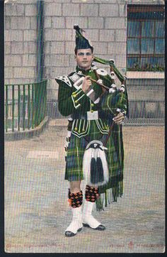 RELIABLE SERIES POSTCARD A PIPER OF THE GORDON HIGHLANDERS C1906 in Collectables, Postcards, Military | eBay