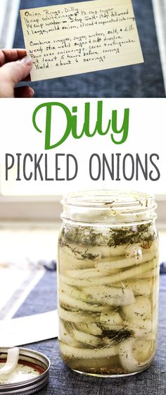 A Southern kitchen is not complete without pickles like our family recipe for Dilly Pickled Onion Rings. Dump all into a jar, shake, put it in the fridge. #pickledonion, #easypickle via @Buy This Cook That
