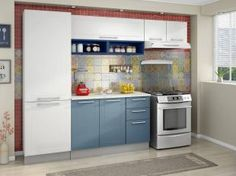 Cozinha Modulada em Aço 5 Peças - CasaMob