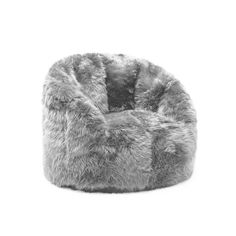 Comfort Research BeanSack Big Joe Milano Faux Fur Bean Bag Chair --- My notes: this bean bag in white! Living Room Chairs, Living Room Furniture, Dining Chairs, Eames Chairs, Side Chairs, Desk Chairs, Chairs For Bedrooms, Lounge Chairs, Upholstered Chairs