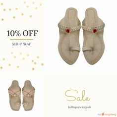 We are happy to announce 10% OFF on our Entire Store. Coupon Code: 10POFF.  Min Purchase: $25.00.  Expiry: 15-Jun-2016.  Click here to avail coupon: https://www.etsy.com/shop/kolhapurichappals?utm_source=Pinterest&utm_medium=Orangetwig_Marketing&utm_campaign=Coupon_Code   #etsy #etsyseller #etsyshop #etsylove #etsyfinds #etsygifts #musthave #loveit #instacool #shop #shopping #onlineshopping #instashop #instagood #instafollow #photooftheday #picoftheday #love #OTstores #smallbiz #sale #coupon