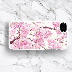 iPhone 7 Plus Pink Sakura Blossom Phone Case, Colorful Flower Spring... (105 SEK) ❤ liked on Polyvore featuring accessories, tech accessories and iphone7case