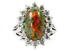 Provident Jewelry - NEIMAN MARCUS BLACK OPAL DIAMOND RING