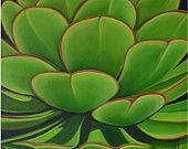 Carin Vaughn Original Succulent Painting 16'x20' by CarinVaughnArt