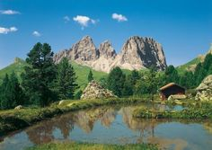 Dolomiten Mountain Scene Contemporary Wall Mural - papermywalls.com