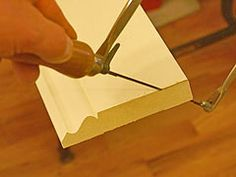 Cutting Coped Ends On Baseboard Or Other Wood Trim Basic Carpentry Tools, Finish Carpentry, Baseboard Trim, Baseboards, Cleaning Rusty Tools, Cut Crown Molding, Deck Finishes, Coping Saw, Trim Work