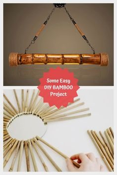 Some Easy DIY Bamboo Projects #diybamboo Bamboo Ideas, Bamboo Crafts, Bamboo Design, Bamboo Skewers, Diy Art Projects, Easy Diy, The Incredibles, Shapes, Tableware