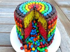 Welcome to the SimpleCookingChannel. Things might get pretty simple sometimes but sometimes that s just what a person needs. I hope you like my recipe for an MM rainbow pinata cake