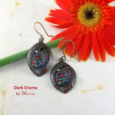 Dark Drama Earrings Drama, Drop Earrings, Jewelry, Jewlery, Bijoux, Schmuck, Drop Earring, Jewerly, Drama Theater