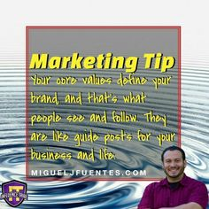 Understand your CORE VALUES and you will become a brand and not just a marketer. Living Quotes, Core Values, Understanding Yourself, Quotes To Live By, How To Become, Marketing, Business, Tips, Instagram Posts