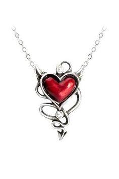 Devil Heart Necklace by UL17 Alchemy