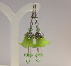 FREE SHIPPINGAntique Silver Peridot Green by myjuliejewels on Etsy, $9.95