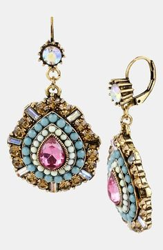 Betsey Johnson 'St. Barts' Teardrop Earrings available at #Nordstrom