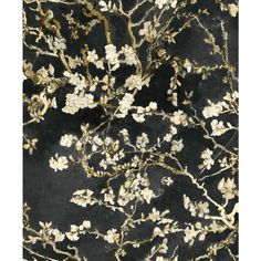 This wallpaper is inspired by Dutch artist Vincent van Gogh who is considered by many to be the founder of modern art. Van Gogh Wallpaper, More Wallpaper, Wallpaper Roll, Pattern Wallpaper, Brown Wallpaper, Wallpaper Samples, Black Floral Wallpaper, Vincent Van Gogh, Van Gogh Tapete