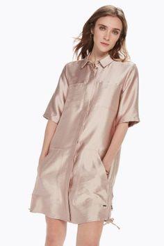 Scotch & Soda Satin Safari Dress - S Pink Safari Dress, Scotch Soda, Dress Skirt, Cold Shoulder Dress, Satin, Skirts, Pink, Dresses, Women