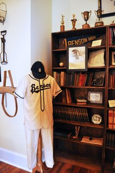 Loving the old baseball uniform found at the Benson Museum of Local History in Benson, NC.