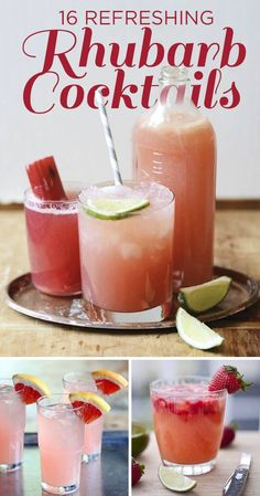 16 Refreshing Rhubarb Cocktails To Drink This Weekend Cocktail Bitters, Cocktail Drinks, Cocktail Recipes, Cocktail Ideas, Refreshing Cocktails, Vodka Cocktails, Summer Cocktails, Party Drinks, Bon Appetit