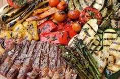 Una fiesta parrilla icónica: Entrecot a la brasa con parrillada de verduras a la albahaca
