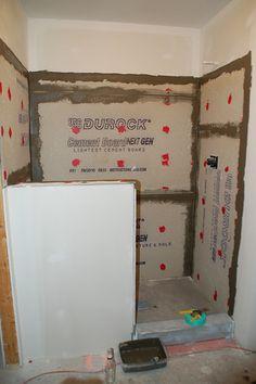 Small master bathroom remodel walk in shower pony wall 46 Ideas Shower Step, Diy Shower, Shower Ideas, Half Wall Shower, Shower Base, Shower Rod, Shower Doors, Design Seeds, Downstairs Bathroom