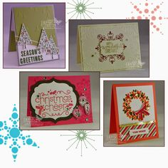 Really like the Festival of Trees and Wondrous Wreath cards! Debbie's Designs: Christmas Stamp-a-Stack!