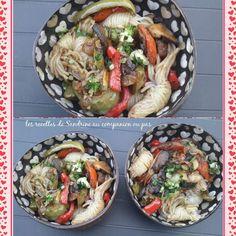 Shirataki de konjac aux petits légumes fondants Le konjac, c'est l'aliment minceur super tendance du moment. Il se présente sous forme de shirataki (sorte de spaghetti), une portion de féculents représente plus de 200 kcal, une portion de konjac en contient...