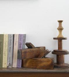 Wood blocks and spools