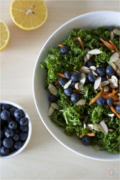 Blueberry carrot kale salad #Fitfluential #EAT #Vegetarian