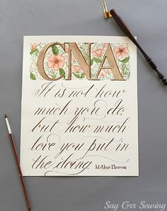 CNA painting and quote