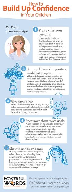 How To Build Up Confidence In Your Children #powerfulwords #drrobyn
