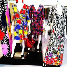 Loving the @DVF x Andy Warhol collection. 2 icons