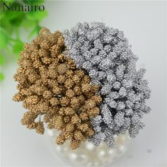 Aliexpress.com : Buy 12pcs/lot Mini Gold silver Artificial Stamen Bud Bouquet Leaf flowers For Home Garden Wedding Car Decoration Box Crafts Supplies from Reliable flowers for suppliers on Wedding Party & forever love you